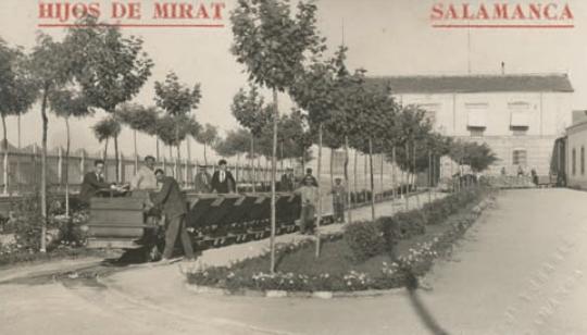 Tren interior de la factoria de Mirat, archivo Mirat
