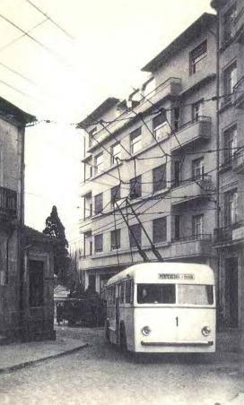 Trolebús de Pontevedra a Marin (Tranvias Electricos de Pontevedra , foto archivo SEMI (Sociedad Española de Montajes Industriales)