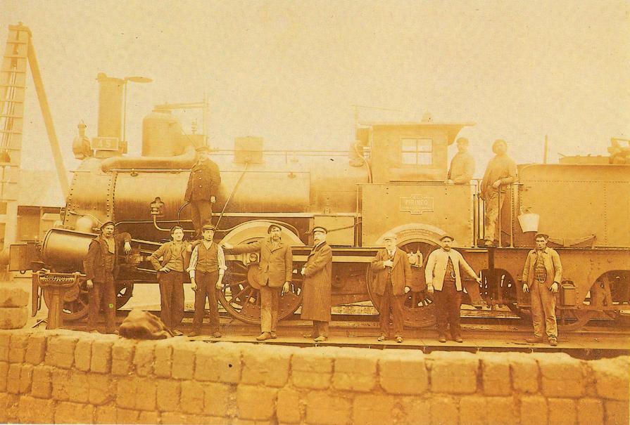 Tudela a Bilbao , Locomotora Pirineo. Archivo AAFC Bilbao