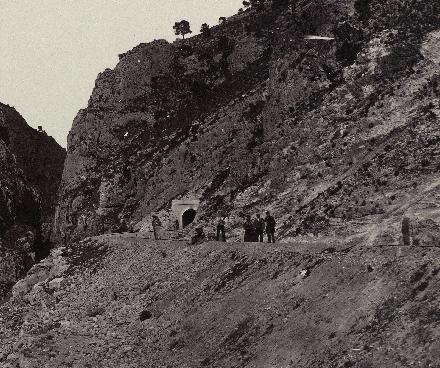 Tunel de Los Almadenes , linea de Cartagena a Albacete, año 1967, Foto José Martinez Sanchez, Archivo BNE