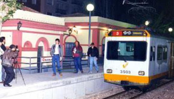 Ultima circulacion el 04.05.1995, entre Rafelbunyol y Valencia, estacion de Rafelbunyol , foto Esteban Gonzalo Rogel