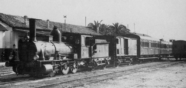 Unidad de tren Utrera a Morón y Osuna, fotografo desconocidoi, archivo JPT