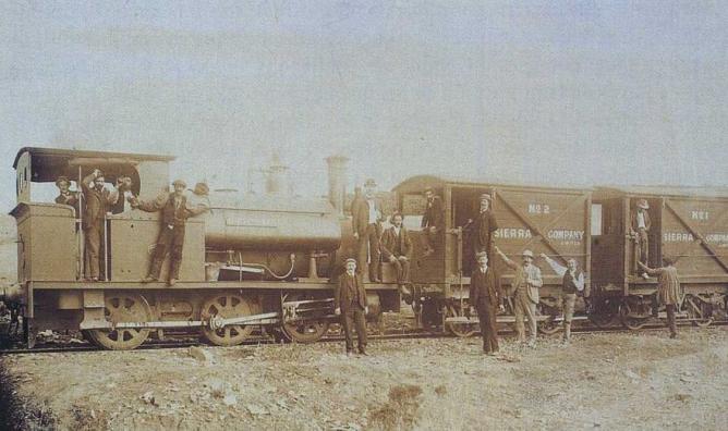 Unidad de tren de la Sierra Company, autor desconocido