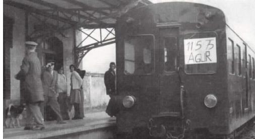 Unidad elecrica en la seccion de Sindica a Munguia,año 1975, fondo Euskotren , MVF