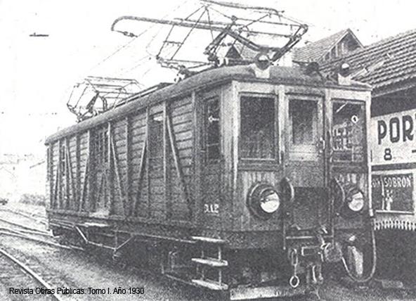 Unidad tractora del Irati, año 1930. fondo Revista de Obras Públicas