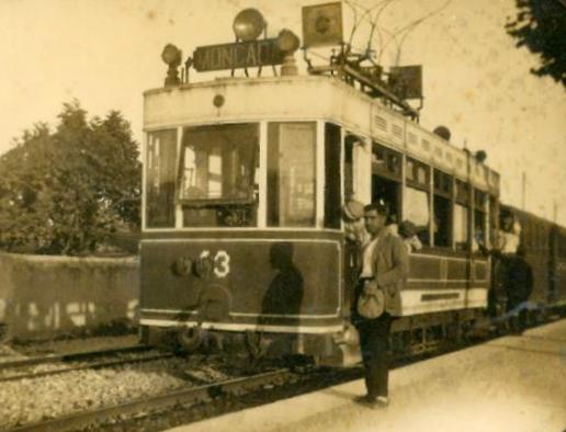 Unidad tratora en Moncada, 14 febrero 1923, archivo Vicente Muñoz Gimeno