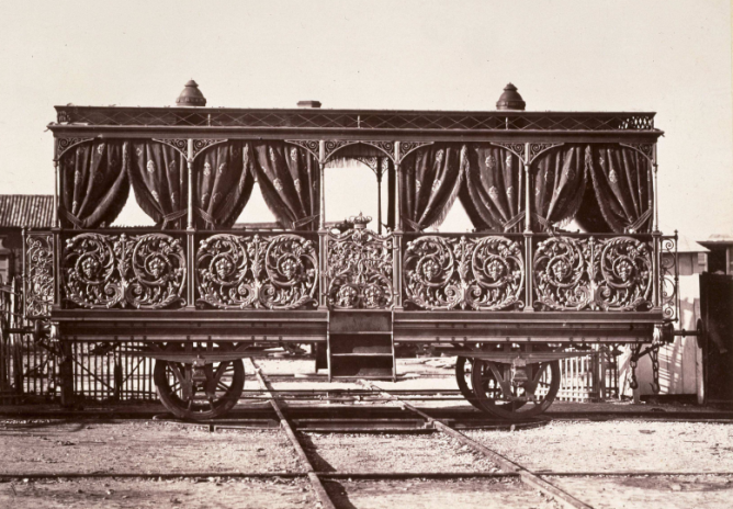 Vagon Real año 1864, foto Auguste Muriel , Archivo BNE