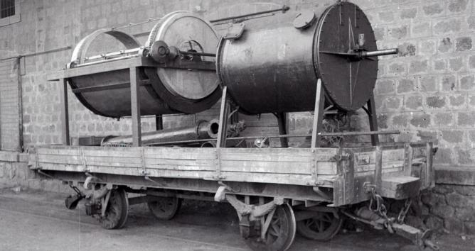 Vagon con maquinaria, foto M. Salinas