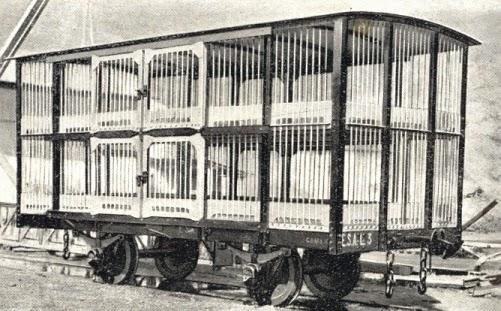 Vagon jaula de ESA, construido por Talleres de Miravalles, fondo MVF