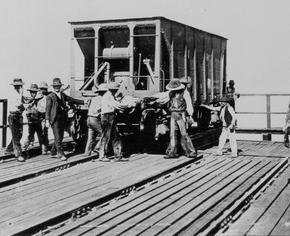 Vagon tolva americano en El Hornillo, Archivo Reydon