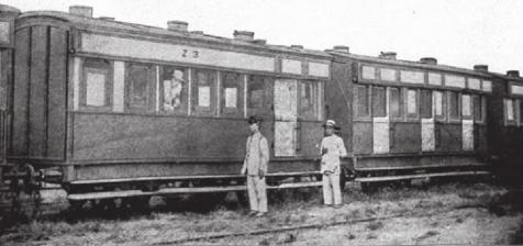 Vagones ingleses del TheManila Dagaupan Railway