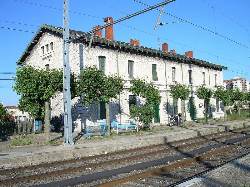 linea de Valladolid Ariza, estacion de Valladolid-Esperanza, fotografo desconocido