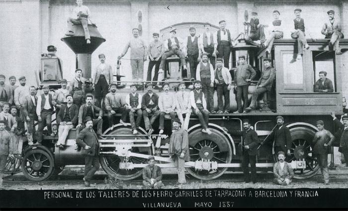 Valls a Vilanova y Barcelona Mayo 1857 talleres, Museo del Fc de Vilanova y La Geltru