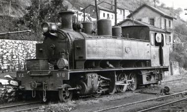 Vasco Asturiano , locomotora nº 8 , fondo MVF