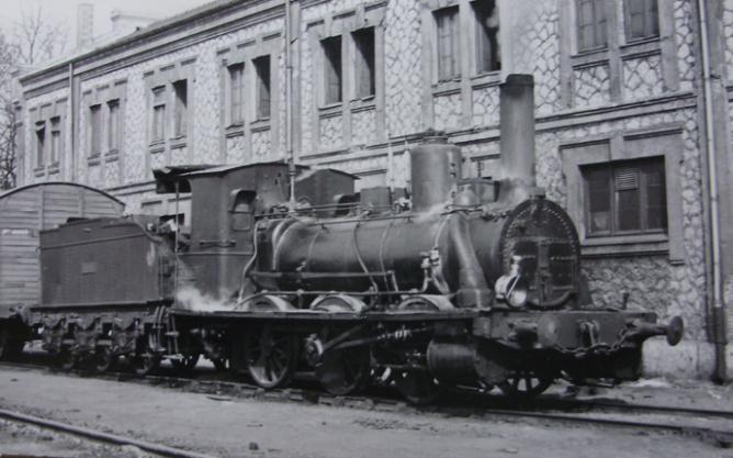 Venta de Baños, locomotora 030-2174, año 1959, fotografo desconocido