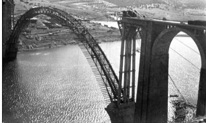 Viaducto Martin Gil, foto archivo Cehopu.Cedex
