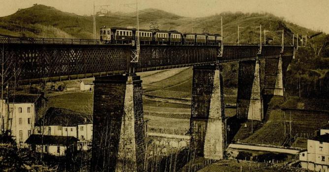 Viaducto de Hormaiztegui , año 1930, Archivo Guia Norte
