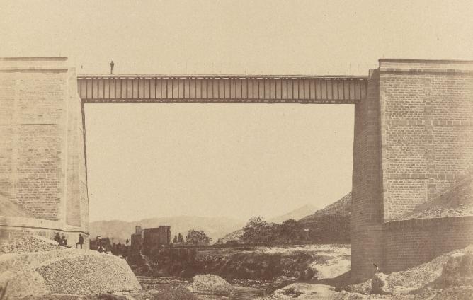 Viaducto de Monovar , c. 1858 , foto Charles Clifford, fondo BNE