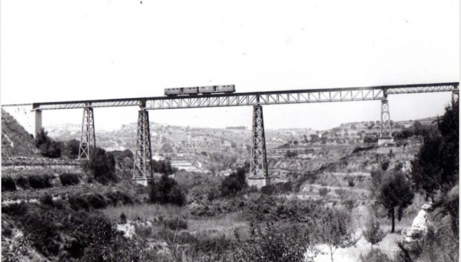 Viaducto de Quisi , Calpe-Benisa , año 1976 , foto Esteban Gonzalo Rogel