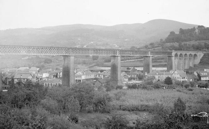 Viaducto de Redondela , fondo Loty , Fondo Fototeca del P.H.