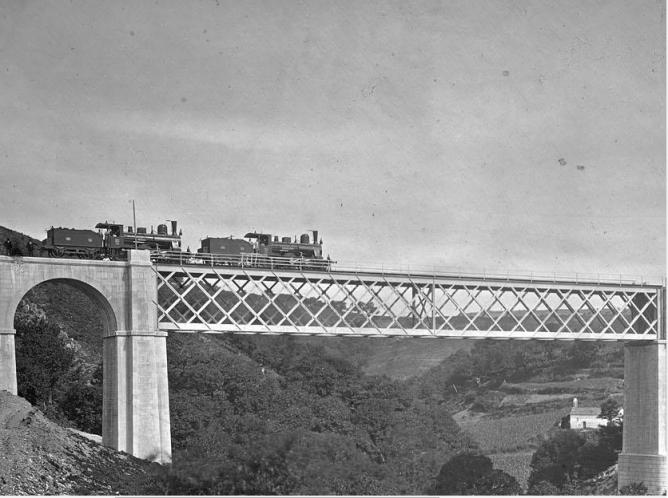 Viaducto sobre el arroyo de Liñares, J. Laurent , Archivo Ruiz Vernacci, fondo Fototeca del P.H.
