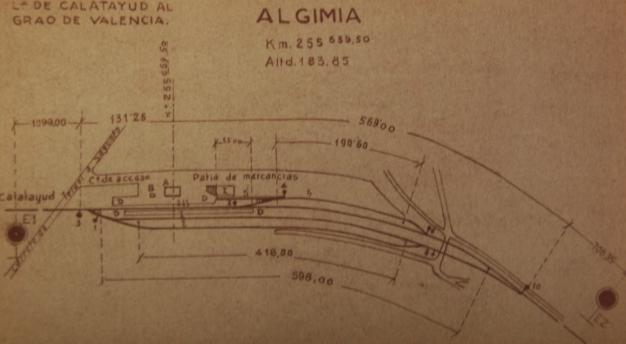 Vias de Servicio de la estación de Algimia