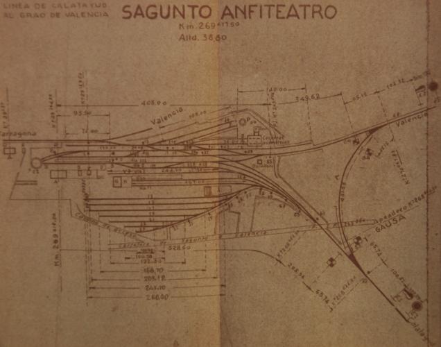 Vias de Servicio de la estación de Sagunto