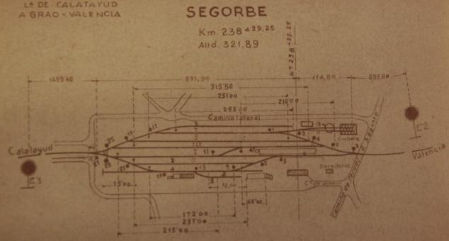 Vias de Servicio de la estación de Segorbe