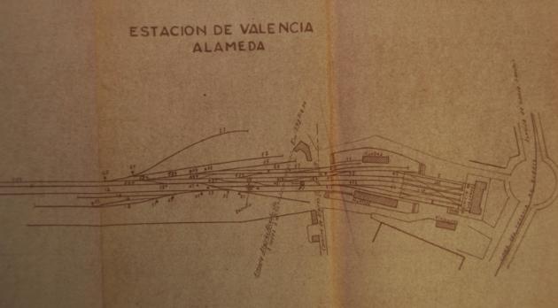 Vias de Servicio de la estación de Valencia Alameda