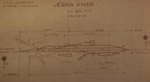 Vias de Sevicio de la estación de Jerica-Viver