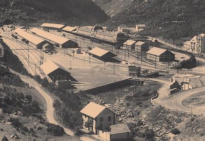 Primitiva estacion de Canfranc . Archivo : APG