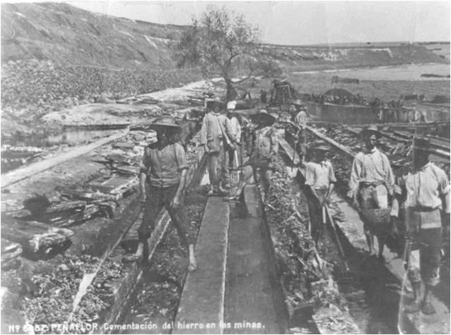 colmatacion del hierra en la mina   Peñaflor, colección José Carranza Cruz