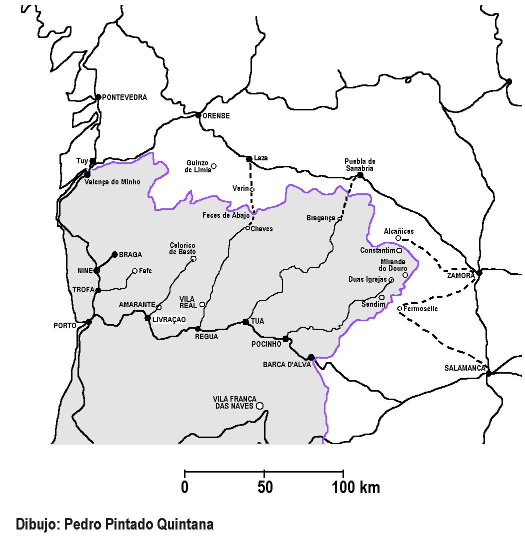 Plano de las redes de Galicia