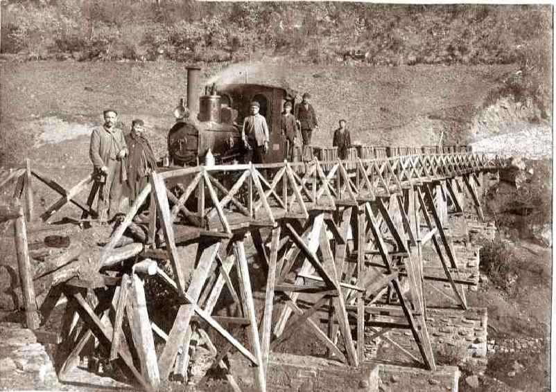 Ferrocarril de Minas de Freixo, foto : Fondo Buxa