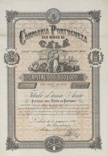 Accion de la Companhia portugeza das minas de Cala