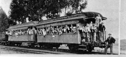Tren en servicio entre