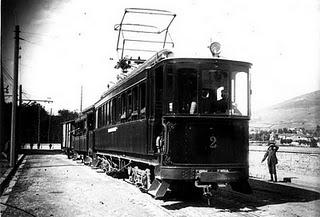 Rama en dirección a la estación del Norte, año 1915, fotografo : desco