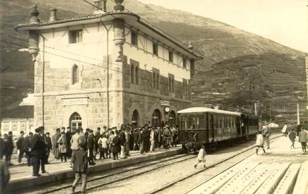 Ferrocarril del Urola , Azpeitia, 1920,