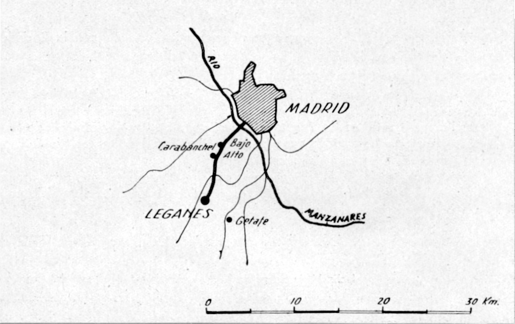 plano de la línea