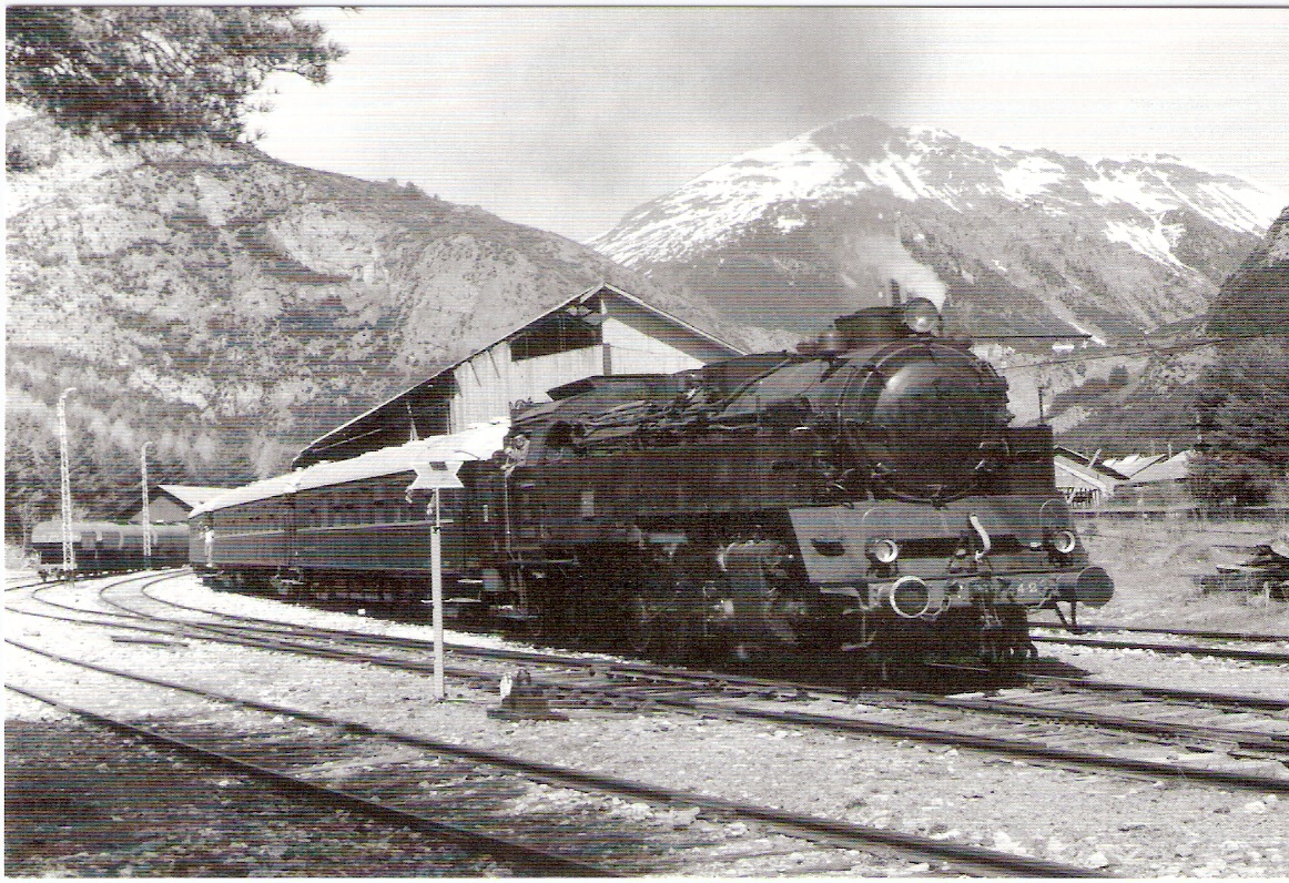 Tren especial en Huesca, en direccion a jaca