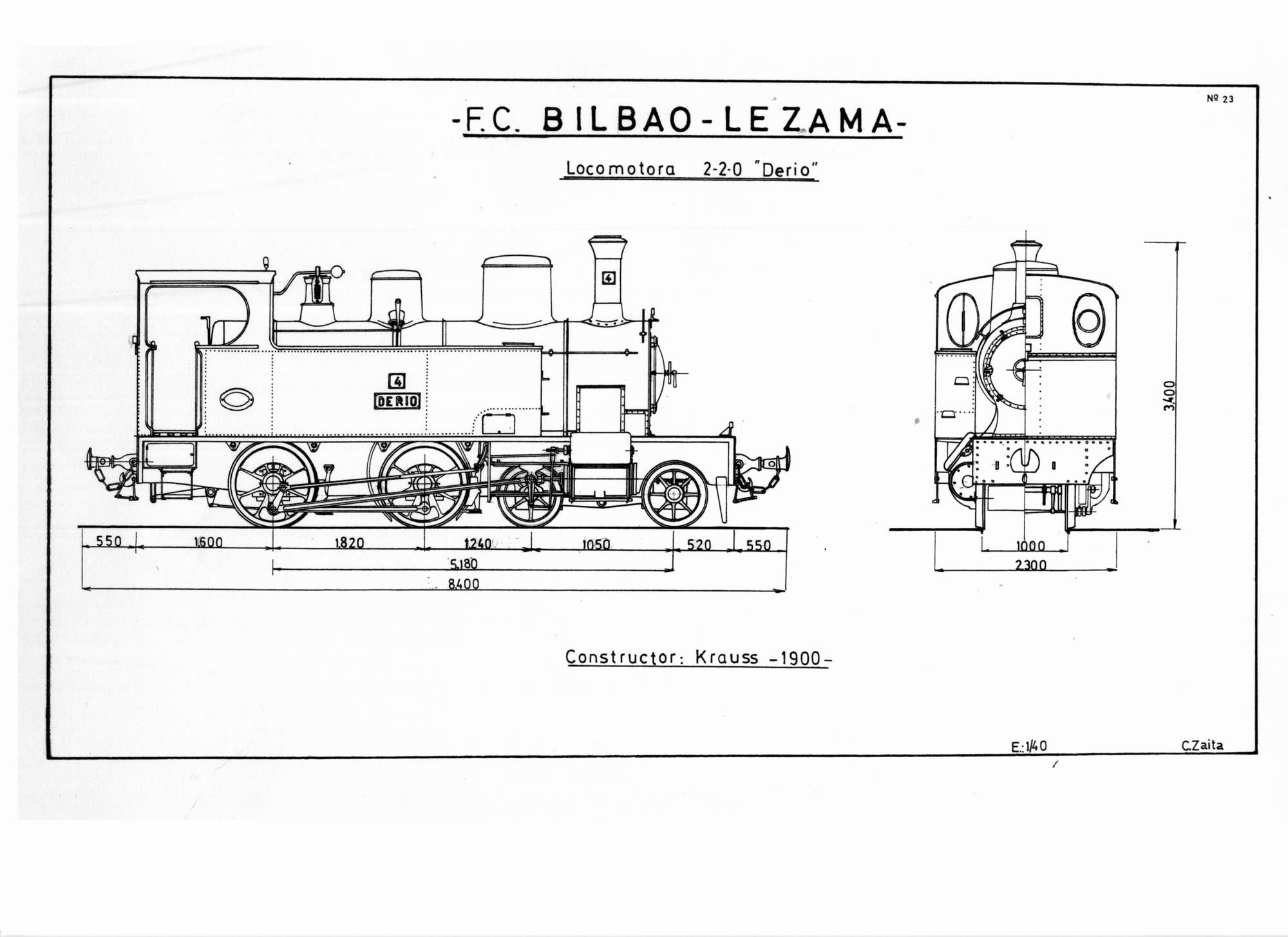 Locomotora, Dibujo Carmelo Zaita
