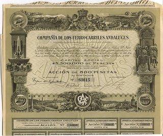 Accion de la Compañía de Ferrocarriles Andaluces