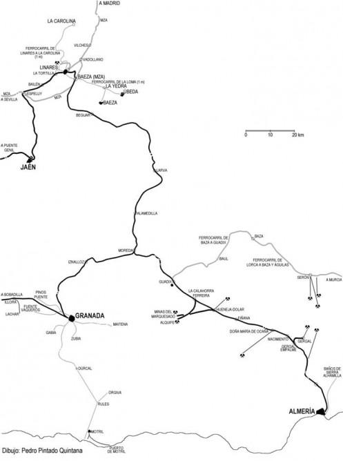 Caminos de Hierro delSur de España, Linares a Almeria,