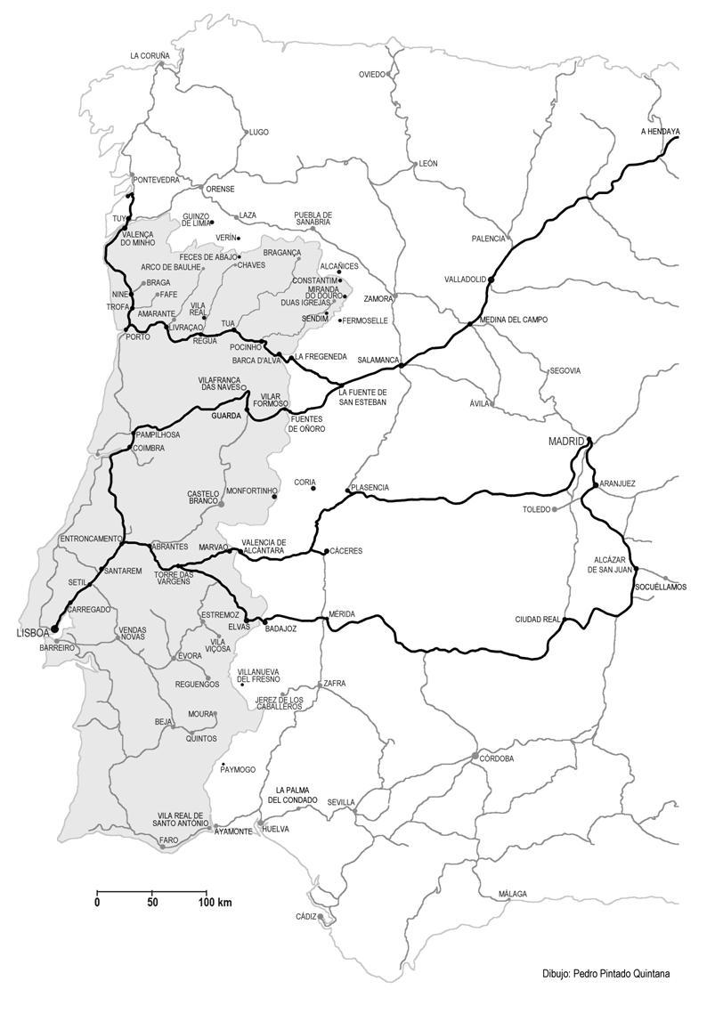 Mapa dibujo Pedro Pintado Quintana
