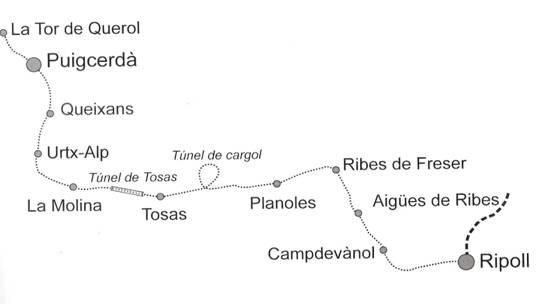 Plano de la seccion de Ripoll a Puigcerda
