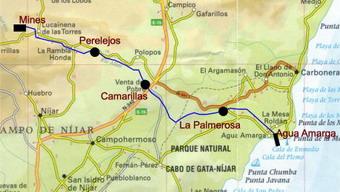 plano del itinerario del ferrocarril