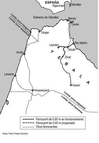 Plano de las lineas , dibujo : Pedro Pintado Quintana