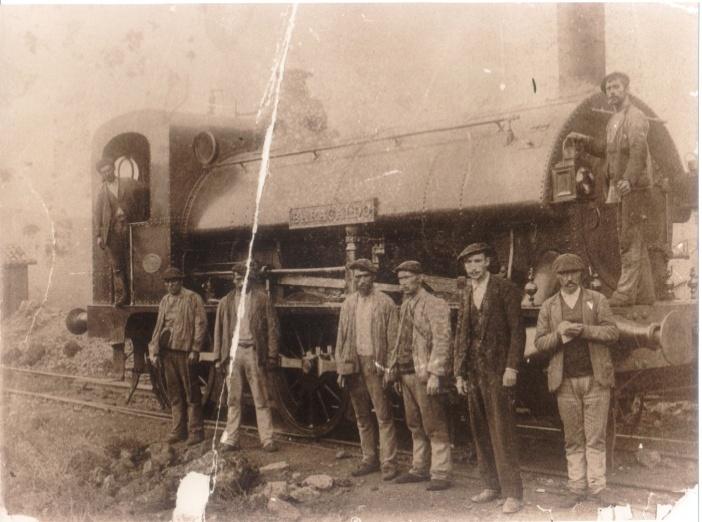 Locomotora Baracaldo, año 1885, fondo :