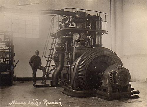 Minas de la Reunion, Sala de maquinas,