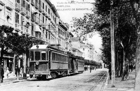 Rama en el Boulevard de Sarasate, postal comercial, Fondo: Miguel